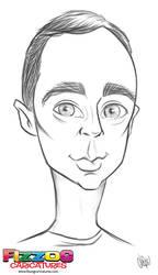Sheldon Cooper by FizzogCaricatures