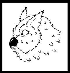 Eagle owl tribal by Mutabi