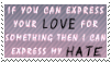 Love and Hate Stamp - Reupload by Blayzes