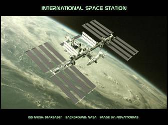 ISS in Orbit by Nova1701dms