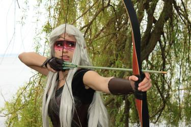 Pointing my arrow fiercely - Rayn by YuyuCosplay