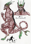 Zeran the Giant Pinchertail color ref by SpiderMilkshake