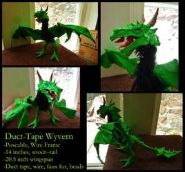 Duct-Tape Green Wyvern~ by SpiderMilkshake