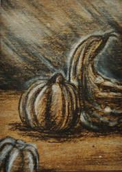 ACEO--Charcoal Pumpkins by SpiderMilkshake
