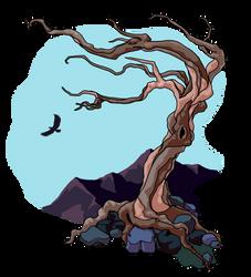Gnarled Tree by SpiderMilkshake