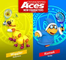 Mario Tennis Aces Wiggler and Kamek by PeterisBeter