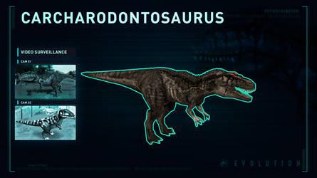 Jurassic World Evolution Carcharodontosaurus by PeterisBeter