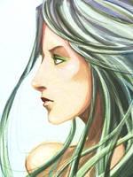 Female Face Profile by Modexo001