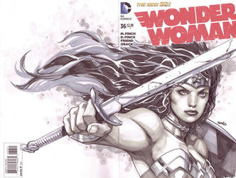 Wonder Woman Cover sketch by popmhan