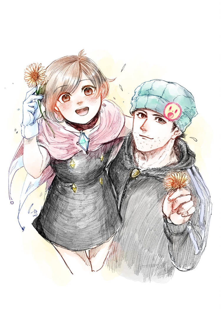 Trucy Wright and Phoenix Wright by manlaw508
