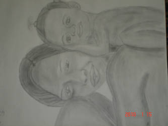 my sis and her baby by Kinsay