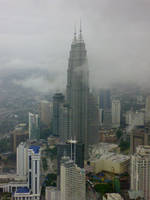 klcc from kl tower by areev19