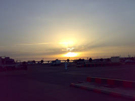 sunset at jeddah by areev19