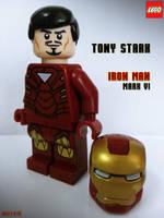 LEGO IRON MAN - Tony Stark as MARK VI by areev19