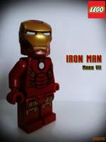 LEGO Iron Man Mark VII by areev19