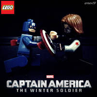 LEGO Captain America - Winter Soldier by areev19