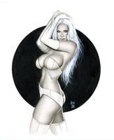 EMMA FROST aka WHITE QUEEN Bw030 by AlexMirandaArt