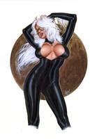BLACK CAT BW-032 by AlexMirandaArt