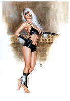 Catgirl Bw449 - Hot Kitty - Art by Alex Miranda by AlexMirandaArt