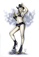 Suzy Cowgirl by AlexMirandaArt