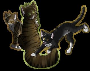 Star Kitties by Silverzan