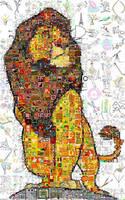 Lion King Mosaic by Cornejo-Sanchez