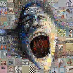 Pink Floyd The Wall Mosaic by Cornejo-Sanchez