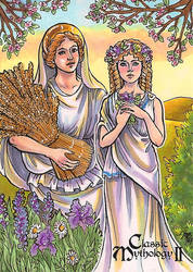 Classic Mythology II - Demeter and Persephone by temiel