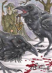 Classic Mythology II - Huginn and Muninn by temiel