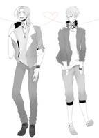 FrUK fashion by NyanNyanDesu