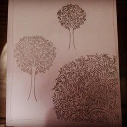 Stilyzed Trees by SoBeautyAndBeat
