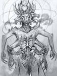 Demon Thing Sketch by NerezaWorks