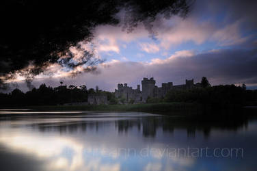 the castle and its lake by realta-eireann