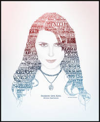 Sharon den Adel Text Portrait by RyuuketsuEG