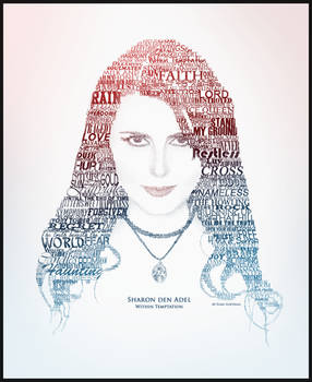 Sharon den Adel Text Portrait by RyuuketsuEG