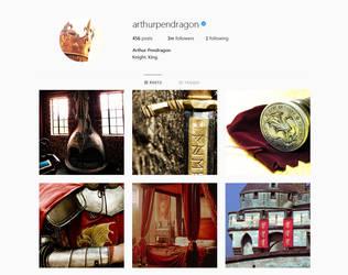 Arthur Pendragon's Instagram by Prue84