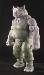 Rhinocerous man by plasticplayhouse