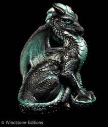 Black Ice male dragon by Reptangle