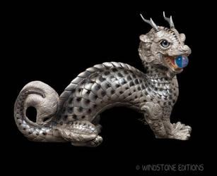 Silver Koi Moon Dragon by Reptangle