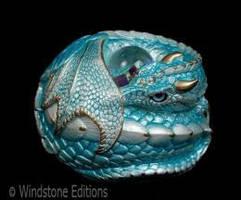 Curled Dragon Aquamarine by Reptangle