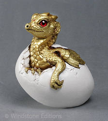 Golden hatching dragon by Reptangle