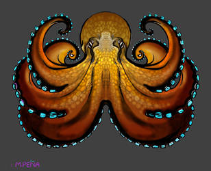 Coconut Octopus tee shirt design by Reptangle
