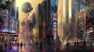 sci fi cityscape by Undercurrent-32