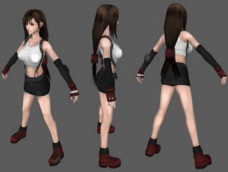 FF7 Tifa 3D Model by Real-Zerox