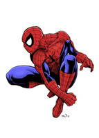 the Amazing Spider-Man (coloured) by judsonwilkerson