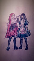 Alice and Red Riding Hood by ACEll1999