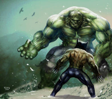 Hulk vs Wolvie by tariq12