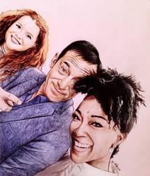 Jason Isaacs, Mary Wiseman, Sonequa Martin-Green by Larkistin89