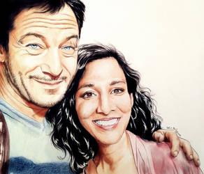 Jason Isaacs and Rekha Sharma by Larkistin89