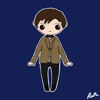 Eleventh Doctor Chibi by xoxRufus